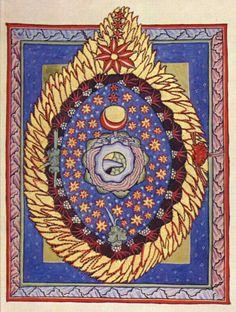 "Illustration from Hildegard of Bingen's ""Scivias,"" circa 1165"