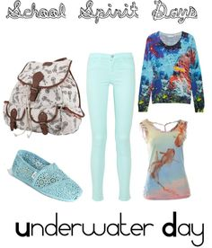 Designer Clothes, Shoes & Bags for Women School Spirit Days, Underwater, Shoe Bag, My Style, Polyvore, Collection, Shopping, Ideas, Design