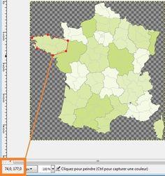 Tuto : Créer une carte de France, une zone d'image cliquable avec GIMP