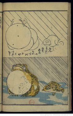 Hokusaï, Leçons de dessin par la décomposition géométrique