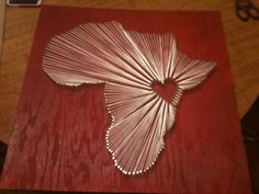 I would love this for my Africa Room! but the heart will have to move to Cote d'Ivoire :)