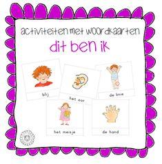 Activiteiten met woordkaarten | Thema DIT BEN IK