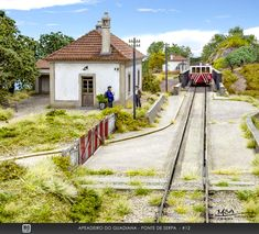Apeadeiro do Guadiana Leste + Pont de Serpa (Portugal) Model Train Layouts, Model Trains, Travel Around, Scale Models, Railroad Tracks, Scenery, Construction, Training, Building