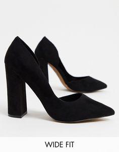 ASOS DESIGN Wide Fit Walter d'orsay high heels in black | ASOS