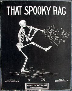 'That Spooky Rag'~Sheet Music cover, Panella Music Co., Pittsburgh, PA