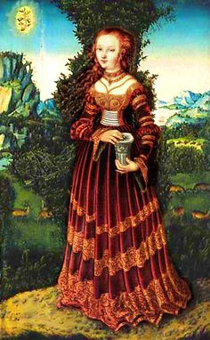 Lucas Cranach the Elder Title Die heilige Maria Magdalena Date 1525 Medium oil on beech wood Dimensions × 30 cm × in) Current location Wallraf-Richartz-Museum Renaissance Kunst, Renaissance Fashion, Renaissance Clothing, Renaissance Portraits, Renaissance Artists, Renaissance Paintings, Renaissance Dresses, Italian Renaissance, Noli Me Tangere