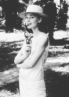 Audrey Hepburn in Belgian Congo, 1959.