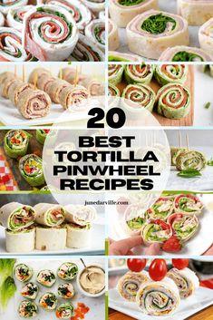 Tortilla Pinwheel Appetizers, Tortilla Pinwheels, Pinwheel Recipes, Easter Dinner Recipes, Easy Appetizer Recipes, Wrap Recipes, Yummy Appetizers, Diet Recipes