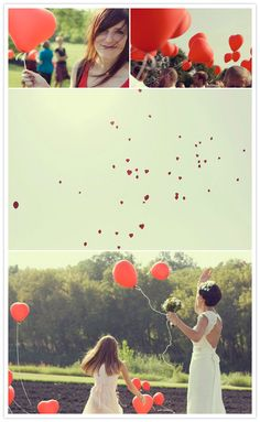 love the heart balloons, but they sorta go against my eco-friendly wedding desires.