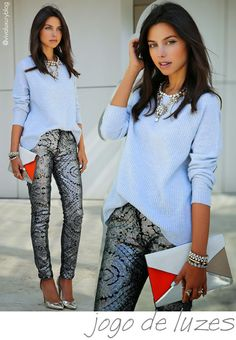 look do dia, viva luxury, blog, annabelle fleur, calca jeans, seven, bordado, paetes, arabesco, trico, jcrew, colar, tons frios, harmonias, sapato cromado
