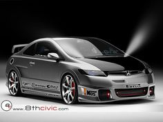 Grey Honda Civic #custom #modified #8th Gen  ♠... X Bros Apparel Vintage Motor T-shirts, New and Classic Honda Civics, VTECH cars,  Great price… ♠♠