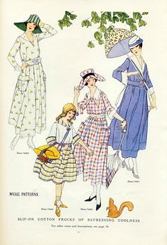 Fashion Plate - McCall's Magazine, August 1917