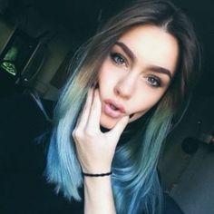 cabello cafe y azu