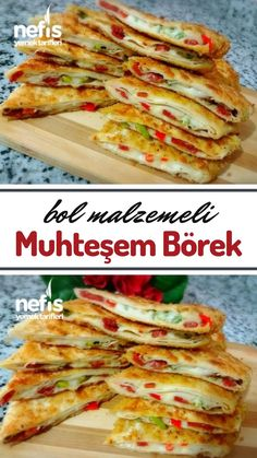 Bol Malzemeli Muhteşem Börek – Nefis Yemek Tarifleri Bol Malzemeli Muhteşem… – Sandviç tarifi – Las recetas más prácticas y fáciles East Dessert Recipes, Easy Dinner Recipes, Breakfast Recipes, Lunch Recipes, Crockpot Recipes For Two, Cooking Recipes, Vegan Meal Prep, Food Platters, Turkish Recipes