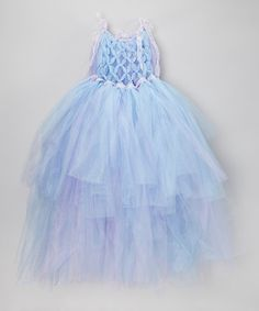 This Lavender & Blue Braided Front Tutu Dress - Toddler & Girls by Enchanted Fairyware Couture is perfect! #zulilyfinds