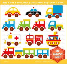Buy 2 Get 2 Free ---- Toy Cars ---- Personal and Small Commercial Use ---- BB 0011 Topper, Felt Patterns, Felt Animals, Craft Items, Cute Stickers, Handmade Crafts, Used Cars, 2nd Birthday, Paper Crafts