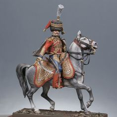 Mounted colonel 6th of hussars 1809, France.