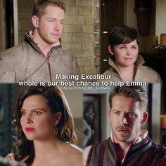 "David, Mary Margaret, Regina and Robin - 5 * 4 ""Broken Kingdom"" #Snowing #OutlawQueen"