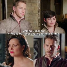 "David, Mary Margaret, Regina and Robin - 5 * 4 ""Broken Kingdom"" #Snowing #OutlawQueen"