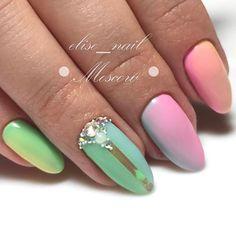 45 Multicolored Nail Art Ideas   Art and Design