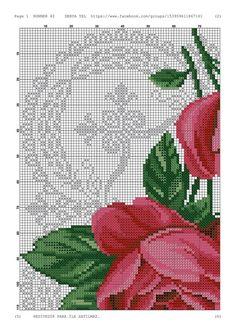 Cross Stitch Borders, Cross Stitch Rose, Cross Stitch Animals, Cross Stitch Charts, Cross Stitching, Cross Stitch Embroidery, Cross Stitch Patterns, Image Chart, Bargello