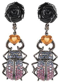 Wendy Yue Scarab Earrings - Available at Marissa Collections.