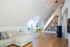 1920's Swedish Home Renovations Ideas On Modern Kick: white sofas fireplace and chimney on lounge