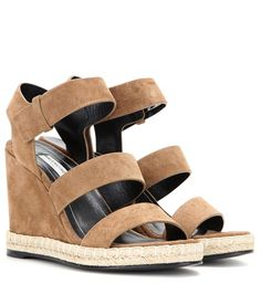 Balenciaga Suede Wedge Sandals For Spring-Summer 2017
