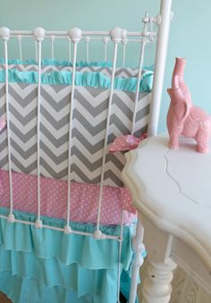 Etsy crib bedding... just a little out of my price range.  I have to start working on my sewing skills :) $425