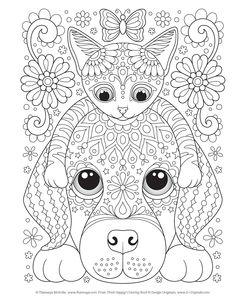 Kleurplaten Honden Katten.1202 Beste Afbeeldingen Van Kleurplaten Katten En Honden In