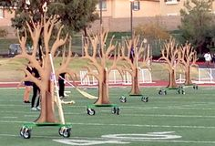King HS Marching Band - Tree Field Props