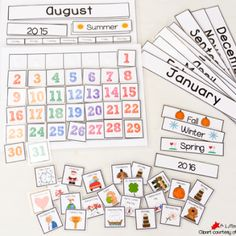 Cute Free Printable Calendar for Circle Time with Kids