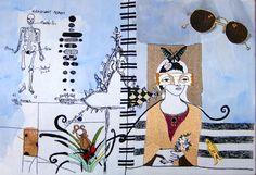 mixed media embroidery by c.bayraktaroglu
