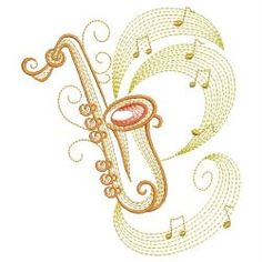 Music Notes 3 04(Md) machine embroidery designs