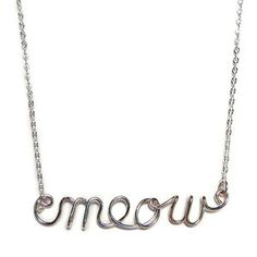 Meow Necklace, $45, now featured on Fab.