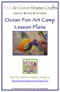 """""""Ocean Fun Art Camp"""" Lesson Plans. 32-page PDF Booklet for only $10."""