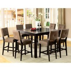 Furniture of America Catherine Espresso Counter height Dining Set by  Furniture of AmericaKincaid Furniture 46 058 Somerset Tall Dining Table  Espresso  . Kincaid Stonewater Tall Dining Table. Home Design Ideas