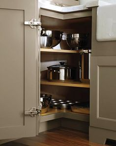I'm stealing this idea for a corner cabinet we have that has a lazy susan in it. It's such a waste of space the way it is now.