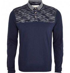 Navy Blue Polo Long Sleeve Shirts Oasis Shirts