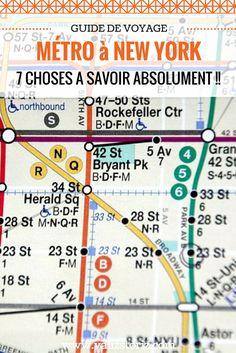 J'avais lu quelque part que le fonctionnement du métro de New York est un peu compliqué à comprendre au départ, pas très intuitif. Comment vous dire… C'est la grosse galère !! Je préfère vous prévenir d'avance des difficultés auxquelles vous allez devoir faire face, surtout la première fois que vous l'empruntez. Comme ça vous éviterez de vous écrouler en pleurant dans un couloir en pleine heure de pointe, comme moi…! | voyage à New York | partir à New York | astuces New York | city trip New…