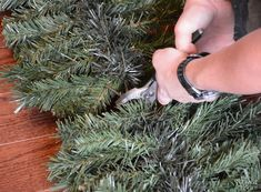 Learn how to make Christmas decorations from an old fake Xmas tree. Outdoor Christmas garland, swag and an alpine tree - DIY Christmas decor at its finest! Outdoor Christmas Garland, Alpine Christmas Tree, Diy Christmas Decorations For Home, Diy Christmas Ornaments, Simple Christmas, Christmas Projects, Holiday Crafts, Vintage Christmas, Fake Xmas Tree