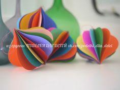 Attractive Pretty Handmade Paper Ornaments For A Design Conscious Friend.