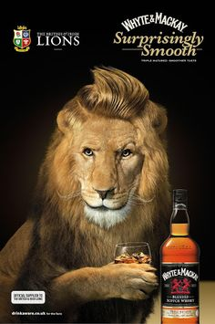 Whyte & Mackay Put Rugby Fans to the Lion Detector Test Print Ads, Lions, Dapper, London, Animals, Image, Scotland, Kitchen, Lion