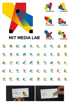 "Client: MIT Media Lab  Designers: Richard The, E Roon Kang  Description: ""The logo is based on an algorithm that produces a unique logo for each person. A custom web interface was developed to allow each person at the Media Lab to choose and claim their own individual logo for his/her business card, as well as a custom animation software which allows people to create unique animations for any video content the lab produces."""