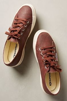 Superga Waxed Suede Sneakers Brown Sneakers #anthrofave #anthropologie