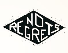 "Check out new work on my @Behance portfolio: ""No Regrets"" http://be.net/gallery/36186171/No-Regrets. Illustration, Vector Illustration, Vector Art, Digital Art, Black and white, b/w, Vector, Illustrator, Graphic Design, Tattoo, vector illustration, tattoo art, Lettering."