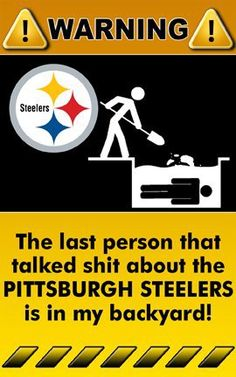 Really wouldn't do this but they are my team! Here We Go Steelers!!