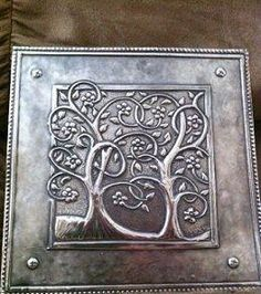 """Some years ago, while I was in our booth at CHA I met artist Landis Lundquist. I showed him the main of """" Repujado """" (metal embossin. Tin Foil Art, Aluminum Foil Art, Tin Art, Metal Projects, Metal Crafts, Art Projects, Pewter Art, Pewter Metal, Metal Embossing"""