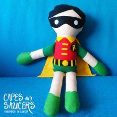 Soft Stuffed Robin Ragdoll  Super Hero Plush by CapesandSaucers, $35.00