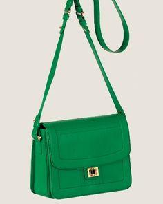 Elia Saab Emerald Green Shoulder Bag, Spring 2012